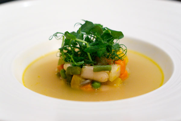 American Express Love Dining Celebrity Edition - Lennard Yeong with LaBrezza Chef de Cuisine Armando Aristarco - Minestrone & Brodo Di Dashi