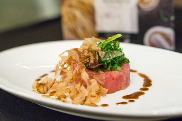 American Express Love Dining Celebrity Edition - Lennard Yeong with LaBrezza Chef de Cuisine Armando Aristarco - Tonno, Alghe & Bonito