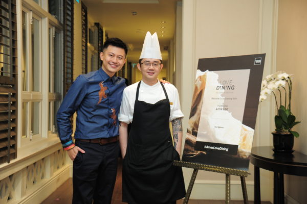 American Express Love Dining Celebrity Edition - Pornsak with Chef Davian Santang