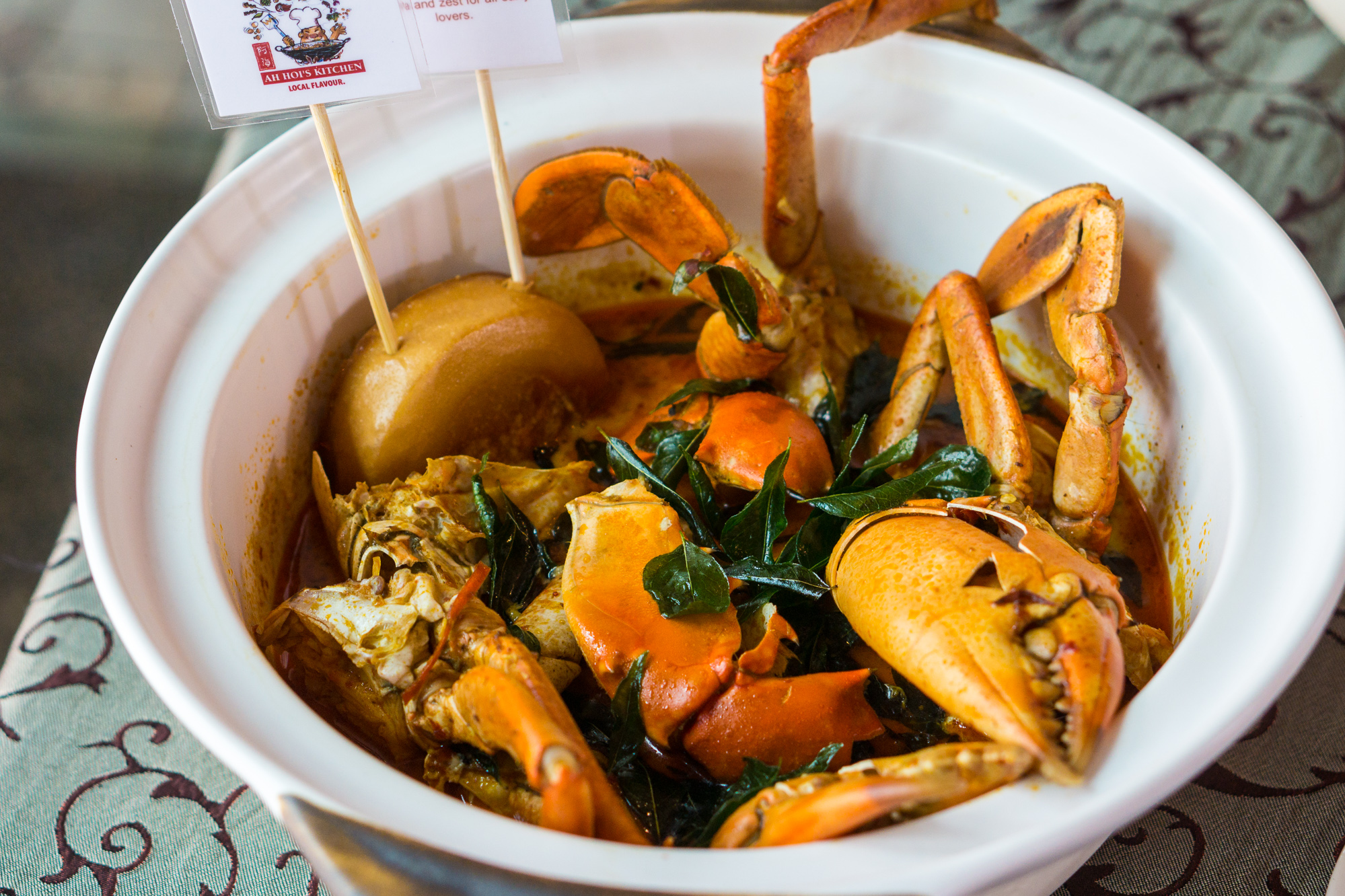 Ah Hoi's Kitchen at Hotel Jen Tanglin Singapore Festival of Crab - Indonesia Claypot Curry Crab