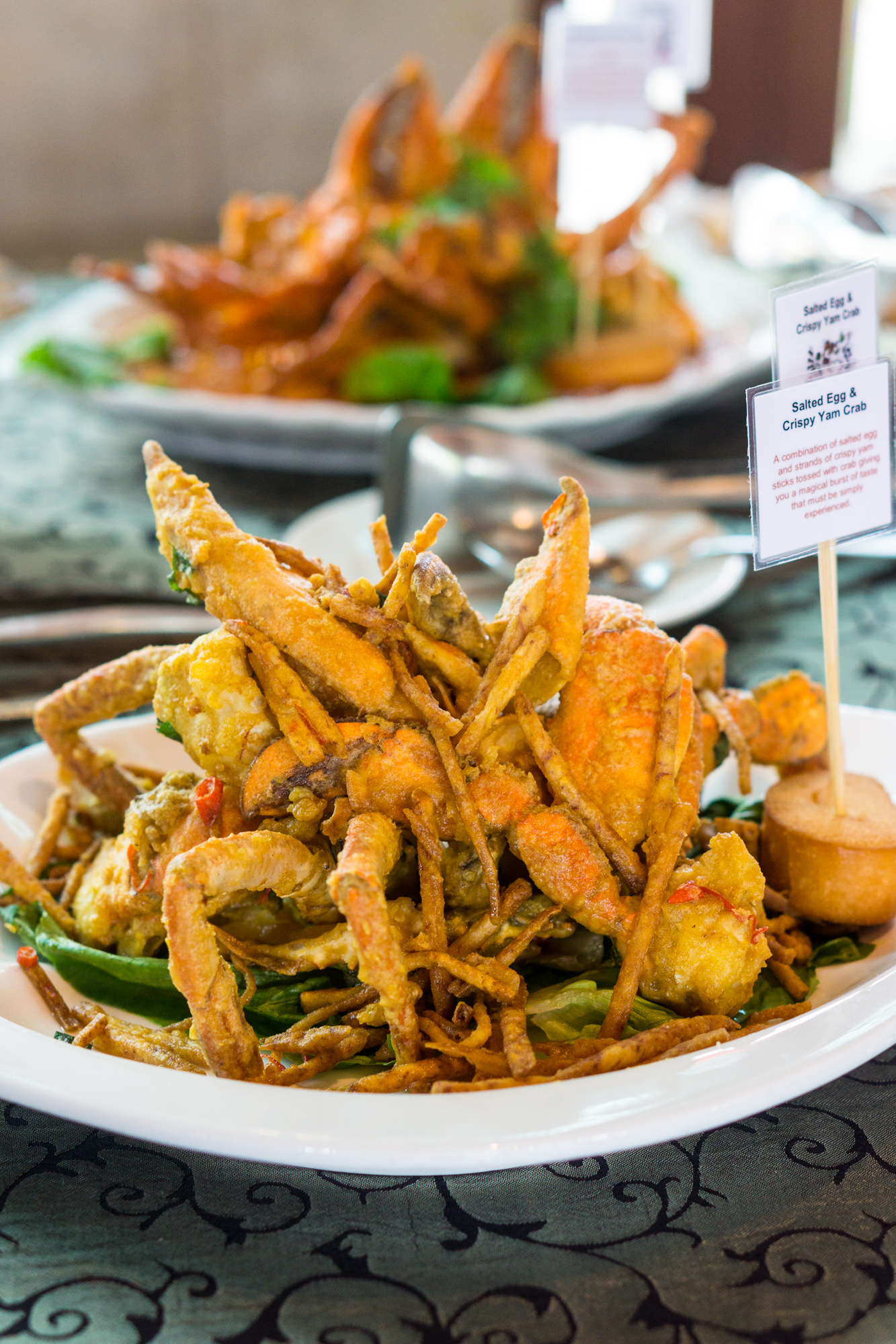 Ah Hoi's Kitchen at Hotel Jen Tanglin Singapore Festival of Crab - Salted Egg and Crispy Yam Crab 1