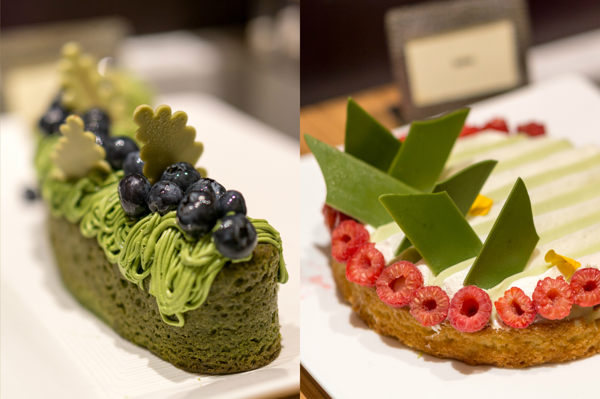 Indian Food Festival at Melt Cafe Mandarin Oriental Singapore - Green Tea Cake and Sable