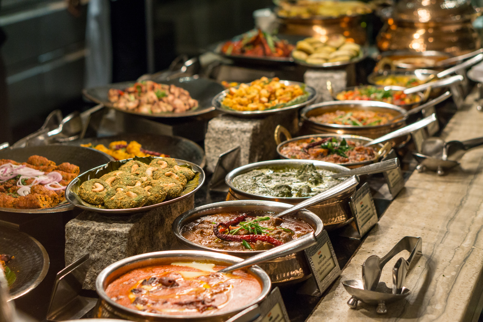 Indian Food Festival at Melt Cafe Mandarin Oriental Singapore - Indian Counter Spread 1