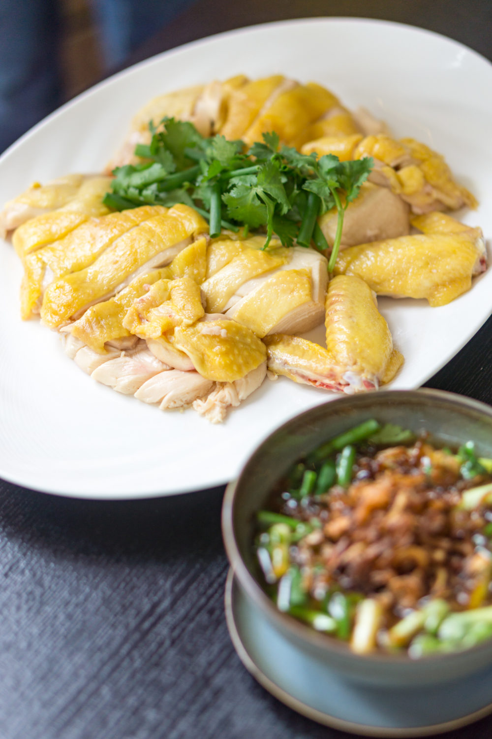 Chinese New Year 2018 - Racines, Sofitel Singapore City Centre - Slow-cooked French Corn-fed Chicken with Scallion Relish and Oyster Sauce
