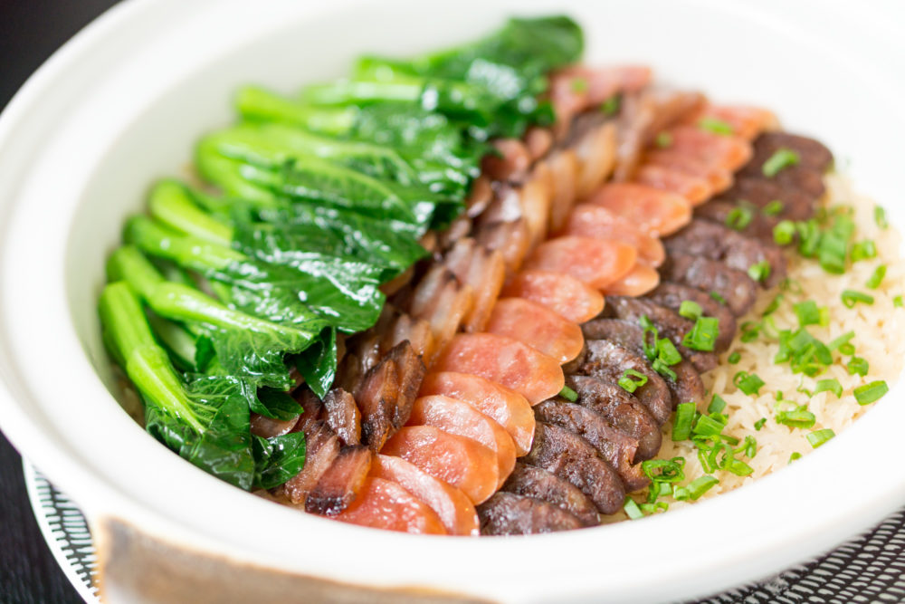 Chinese New Year 2018 - Racines, Sofitel Singapore City Centre - Steamed Fragrant Rice with Chef's Selection of Waxed Meats and Bok Choy 2